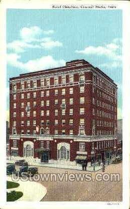 Hotel Chieftain - Council Bluffs, Iowa IA Postcard