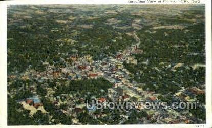 Aeroplane View - Council Bluffs, Iowa IA Postcard