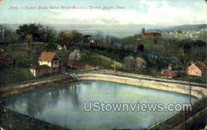 Water Works-Reservoir - Council Bluffs, Iowa IA Postcard