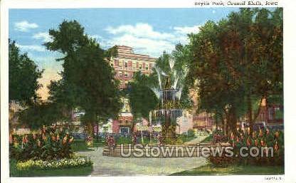 Baylis Park - Council Bluffs, Iowa IA Postcard