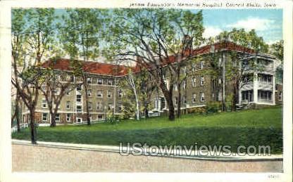 Jennie Edmundson Hospital - Council Bluffs, Iowa IA Postcard