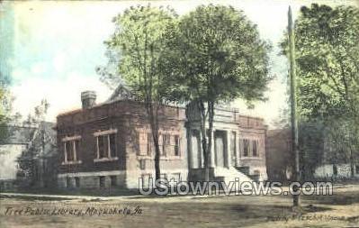 Free Public Library - Maquoketa, Iowa IA Postcard