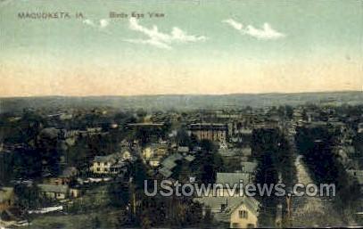 Bird's-Eye View - Maquoketa, Iowa IA Postcard