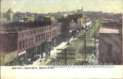 Main Street  - Maquoketa, Iowa IA Postcard