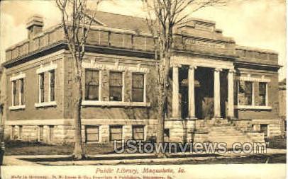 Public Library - Maquoketa, Iowa IA Postcard