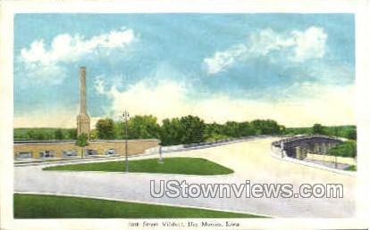18th Street Viaduct - Des Moines, Iowa IA Postcard