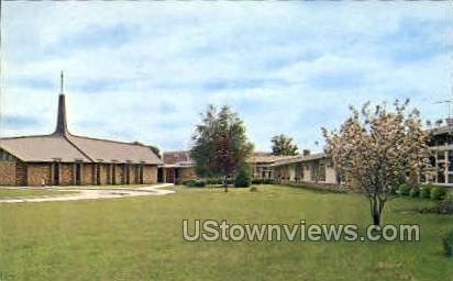 Lutheran Home and Chapel - Cedar Falls, Iowa IA Postcard