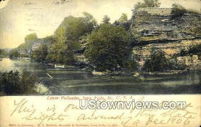 Lower Palisades - Iowa Falls Postcards, Iowa IA Postcard