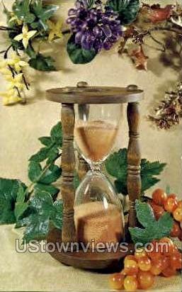 Hour Glass Planter - Misc, Iowa IA Postcard