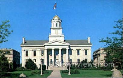 The Old Capital Building - Iowa City Postcards, Iowa IA Postcard