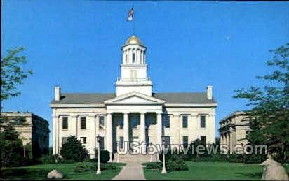 The Old Capital Building - Iowa City Postcards, Iowa IA Postcard
