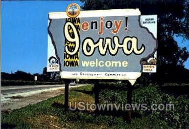 Welcome To - Misc, Iowa IA Postcard