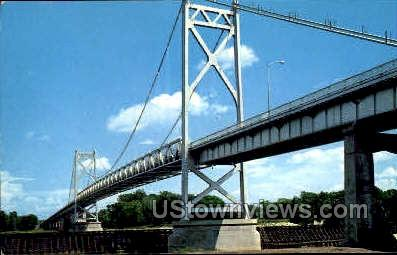 Gateway Bridge - Clinton, Iowa IA Postcard