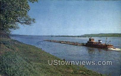 Mississippi River - Misc, Iowa IA Postcard