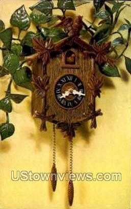 Cuckoo Clock Planter - Misc, Iowa IA Postcard