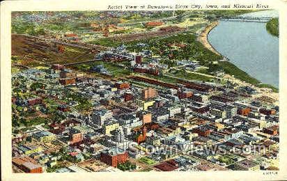 Aerial View  - Sioux City, Iowa IA Postcard