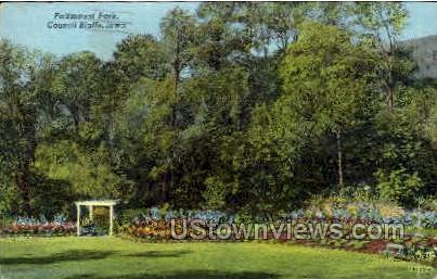 Fairmount Park - Council Bluffs, Iowa IA Postcard