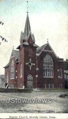 Baptist Church - Grundy Center, Iowa IA Postcard