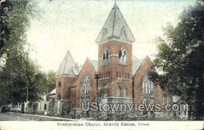 Presbyterian Church - Grundy Center, Iowa IA Postcard