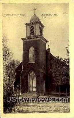 Saint Johns Catholic Church - Independence, Iowa IA Postcard