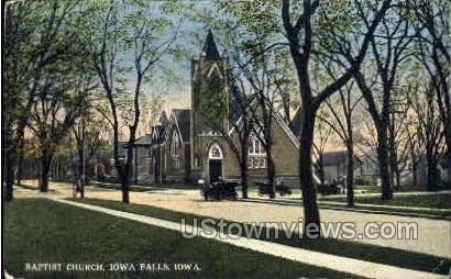 Baptist Church - Iowa Falls Postcards, Iowa IA Postcard