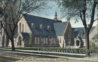 Saint Johns Episcopal Church - Keokuk, Iowa IA Postcard