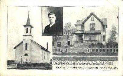Elims Church and Parsonage - Misc, Iowa IA Postcard