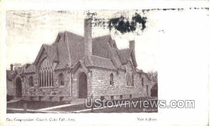 First Congregational Church - Cedar Falls, Iowa IA Postcard