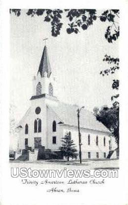 Trinity American Lutheran Church - Akron, Iowa IA Postcard