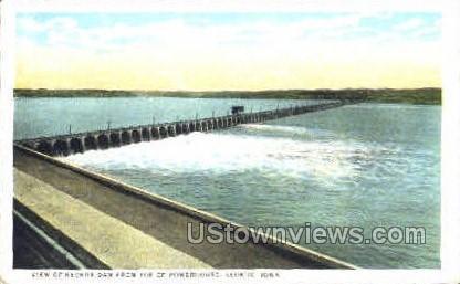 Keokuk Dam - Iowa IA Postcard