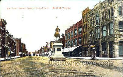 Main Street  - Keokuk, Iowa IA Postcard