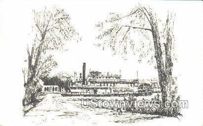 Riverboat Museum - Keokuk, Iowa IA Postcard