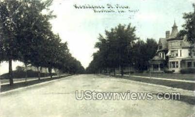 Residence Street - Keokuk, Iowa IA Postcard