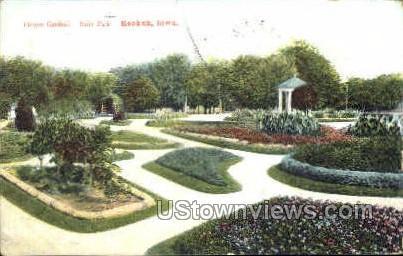 Flower Gardens In Rand Park - Keokuk, Iowa IA Postcard