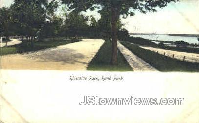 Riverside park - Keokuk, Iowa IA Postcard