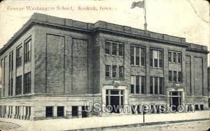 George Washington School - Keokuk, Iowa IA Postcard