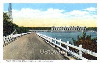 Power House And Dam - Keokuk, Iowa IA Postcard