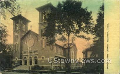 Sacred Heart Church - Waterloo, Iowa IA Postcard