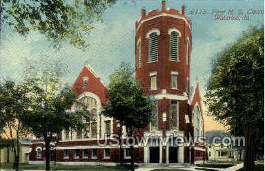 First M.E. Church - Waterloo, Iowa IA Postcard