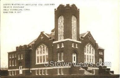 South Waterloo Church - Iowa IA Postcard