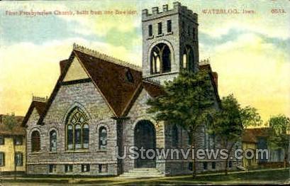 First Presbyterian Church - Waterloo, Iowa IA Postcard