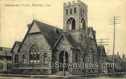 Presbyterian Church - Waterloo, Iowa IA Postcard