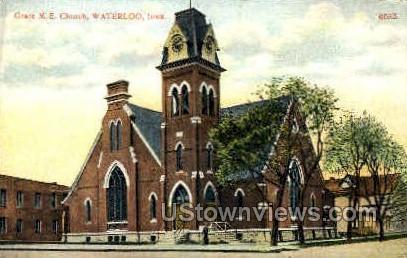 Grace Methodist Episcopal Church - Waterloo, Iowa IA Postcard