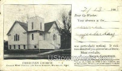 Christian Church - Waterloo, Iowa IA Postcard