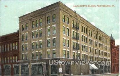 Lafayette Block - Waterloo, Iowa IA Postcard