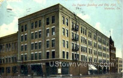Lafayette Building and City Hall - Waterloo, Iowa IA Postcard