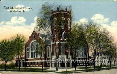First Methodist Church - Waterloo, Iowa IA Postcard