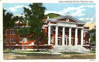 Grace Methodist Church - Waterloo, Iowa IA Postcard