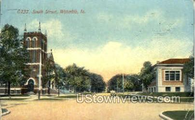 South Street - Waterloo, Iowa IA Postcard