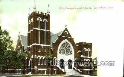 First Congregational Church - Waterloo, Iowa IA Postcard
